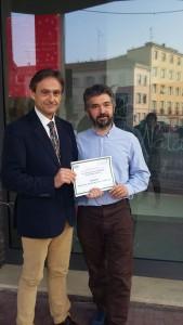 Andrea Pazzi e il Presidente della Cooperativa Andrea Fiorini
