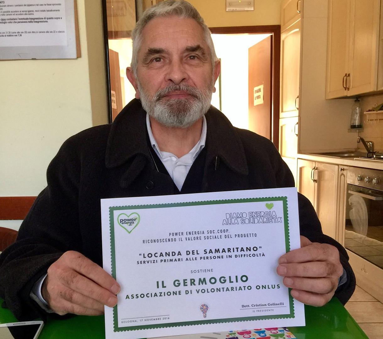 """Alvaro Cappellini, fondatore dell'Associazione """"Il Germoglio Onlus"""""""