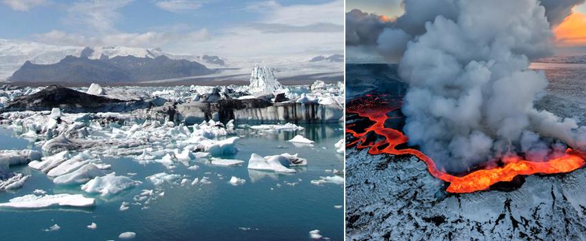 Ghiacciai e vulcani