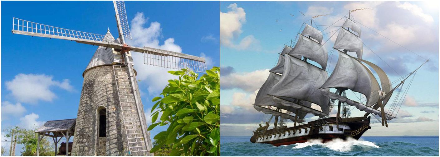 I mulini del 2000 a.C. sfruttavano il vento, come i galeoni in mezzo al mare