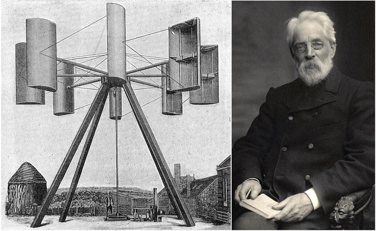 La prima turbina eolica è un'invenzione di James Blyth del 1887