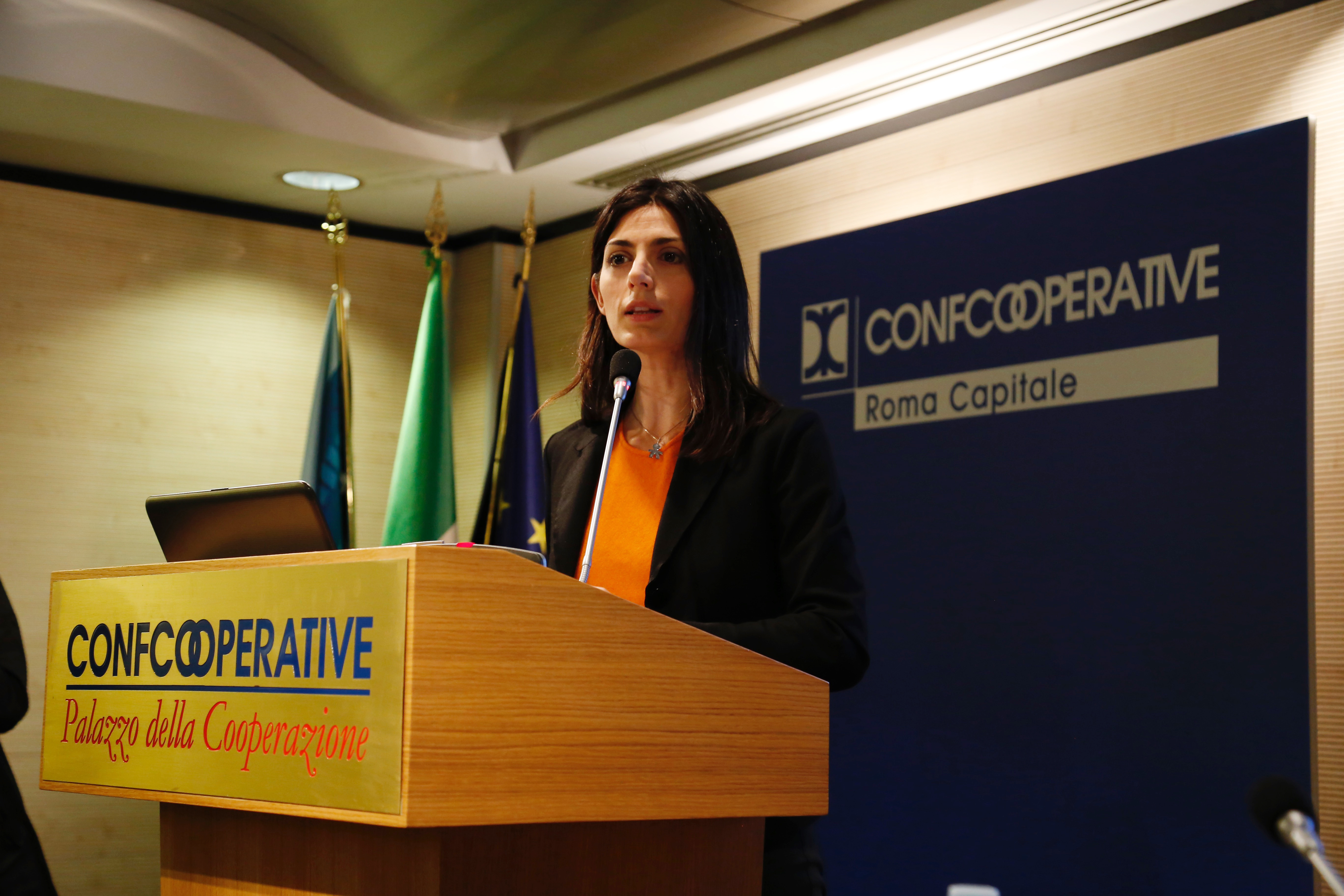 Virginia Raggi, discorso introduttivo (foto di Francesca Salvati)