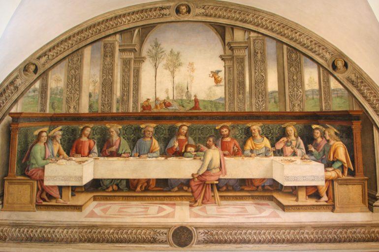 Assemblee elettive delle federazioni regionali al Fuligno, Ultima cena (Pietro Perugino)