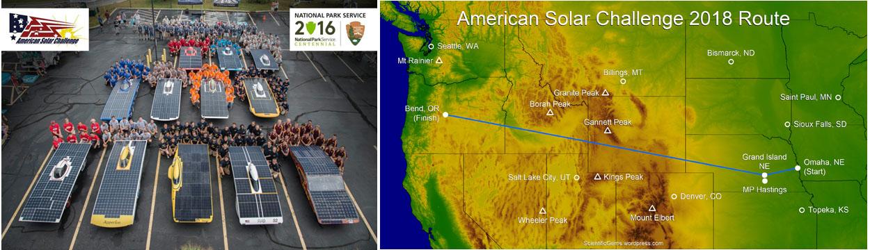 American Solare Challenge 2018: 3.460km di gara