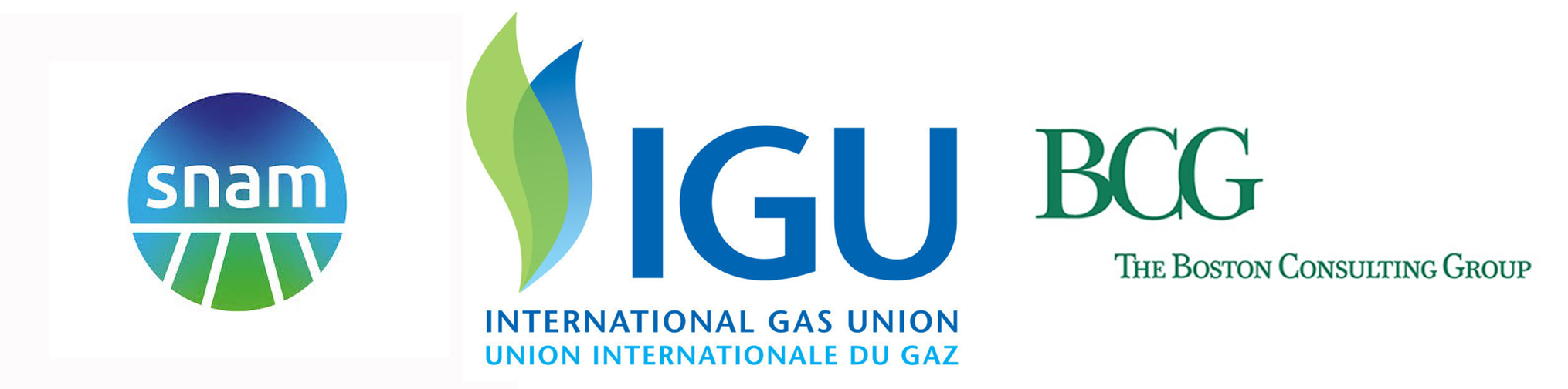 Snam, IGU e BCG, loghi