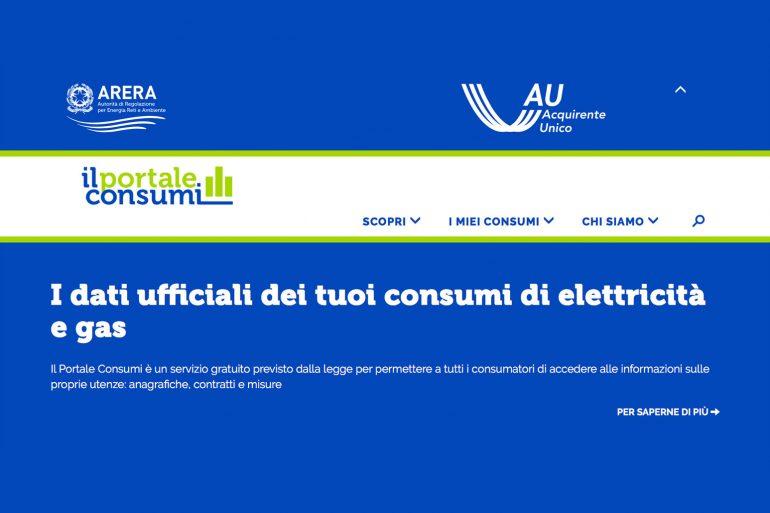 """Dal 1° luglio al via il """"Portale Consumi"""" luce e gas di ARERA"""