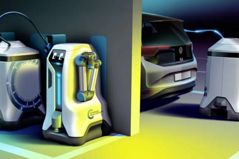 Un robot adesso caricherà le auto elettriche: il sistema arriva da Volkswagen